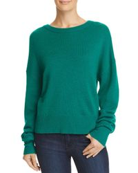 Theory Green Relaxed Cashmere Sweater