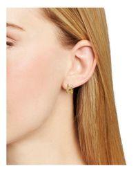 Nadri - Metallic Lunar Double Hoop Earrings - Lyst