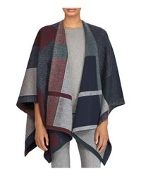 Ralph Lauren - Multicolor Lauren Plaid Jacquard Knit Ruana - Lyst