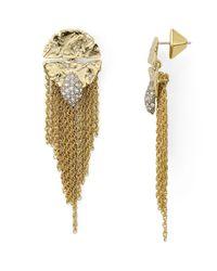 Alexis Bittar - Metallic Rocky Medallion Post Earrings - Lyst