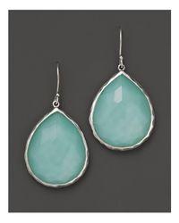 Ippolita Blue Sterling Silver Wonderland Teardrop Earrings In Aqua Doublet