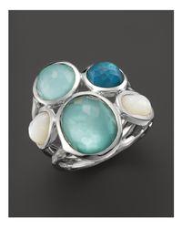 Ippolita Metallic Sterling Silver Wonderland 5-stone Ring In Tahiti