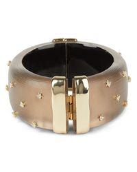 Alexis Bittar Multicolor Large Studded Lucite Hinge Bracelet