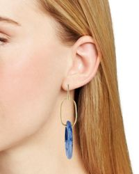 Aqua Blue Lucite Drop Earrings