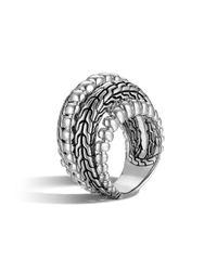 John Hardy | Metallic Bedeg Silver Dome Ring | Lyst