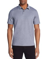 Theory Gray Standard Tipped Regular Fit Polo Shirt for men