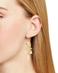 Chan Luu Metallic Tassel Drop Earrings