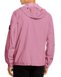 Stone Island Pink Solid Packable Hooded Jacket for men