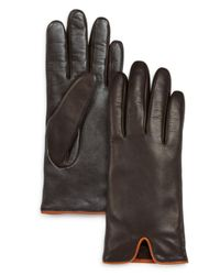 Fownes - Brown Leather Vent Tech Gloves - Lyst