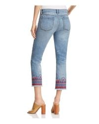 Tory Burch Blue Myers Cropped Bootcut Jeans