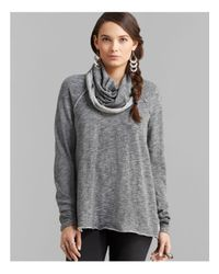 Free People | Gray Pullover - Beach Cocoon | Lyst