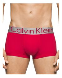 Calvin Klein Red Steel Micro Low Rise Trunks for men