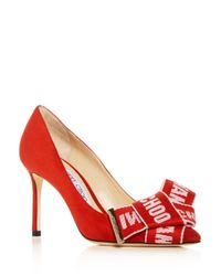 Jimmy Choo Multicolor Women's Tegan 85 Suede High-heel Pointed Toe Pumps