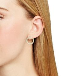 Kate Spade - Metallic Hoop Earrings - Lyst