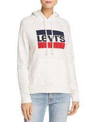 Levi's - White Graphic Sport Hooded Sweatshirt - Lyst