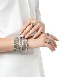 Freida Rothman - Metallic Four Point Texture Bangle - Lyst
