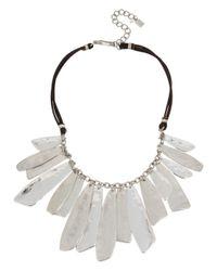 Robert Lee Morris - Metallic Shaky Layered Bib Leather Necklace - Lyst