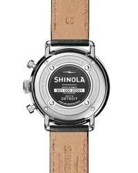 Shinola Black 43mm