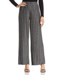 Vero Moda Black Wiona Metallic Stripe Wide Leg Pants