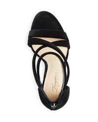 Imagine Vince Camuto - Black Women's Devin Velvet Crisscross High Heel Sandals - Lyst