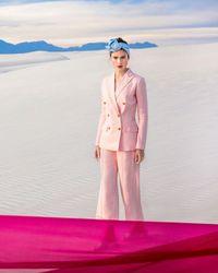 Ralph Lauren - Pink Lauren Double-breasted Blazer - Lyst