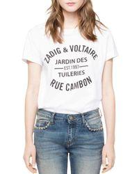 Zadig & Voltaire White Cambon Walk T-shirt