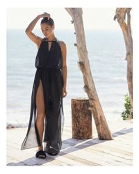 Ramy Brook Black Justina Dress Swim Cover-up