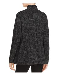 Eileen Fisher - Black Stand Collar Blazer - Lyst