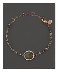 Meira T | Multicolor 14k Rose Gold Labradorite Bead Bracelet | Lyst