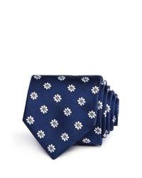 HUGO - Blue Daisy Neat Skinny Tie for Men - Lyst