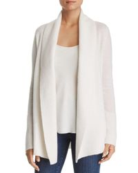 C By Bloomingdale's White Shawl - Collar Cashmere Cardigan