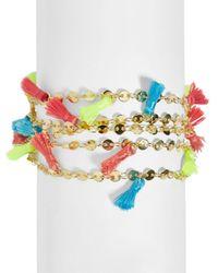 BaubleBar - Blue Rica Multicolor Tassel Bracelet - Lyst