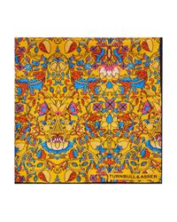 Turnbull & Asser - Yellow Floral Pocket Square for Men - Lyst