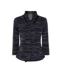 Karen Millen - Blue Tie-neck Top - Lyst