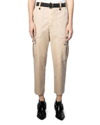 Zadig & Voltaire Natural Pilote Cargo Pants