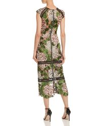 Bronx and Banco Green Cherry Embellished Midi Dress