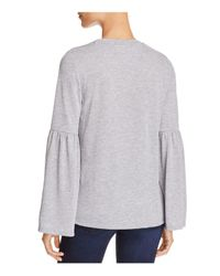 CALVIN KLEIN 205W39NYC - Black Bell-sleeve Top - Lyst