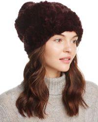 Surell - Brown Rabbit Fur Slouch Hat - Lyst