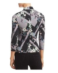 Guess Black Irene Cutout Floral Print Top