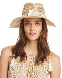 Eric Javits - Brown St Tropez Embellished Hat - Lyst