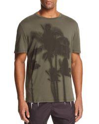 Neil Barrett Green Sunset Palm Tree Graphic Tee for men