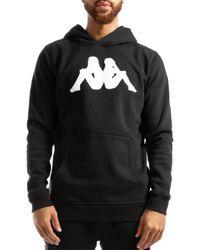 Kappa Black Authentic Bzalent Tonal Logo Hooded Sweatshirt for men