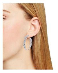 Melissa Lovy - Metallic Serena Hoop Earrings - Lyst