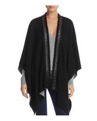 Lyssé - Black Dakota Double Face Serape - Lyst