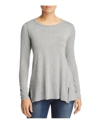 B Collection By Bobeau - Gray Jade Vented Top - Lyst