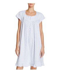 Eileen West Blue Short Nightgown