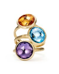 Marco Bicego Metallic 18k Yellow Gold Jaipur Ring With Citrine
