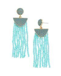 BaubleBar - Blue Tarot Tassel Earrings - Lyst