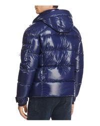 Sam. - Blue New Racer Hooded Puffer Coat for Men - Lyst