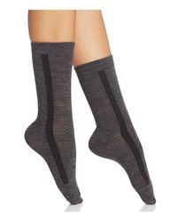 Hue - Gray Tuxedo Stripe Trouser Socks - Lyst